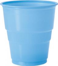 12 Gobelets en plastique bleu clair