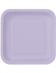 14 Grandes assiettes en carton lavande