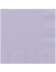 20 Serviettes en papier lavande 33 x 33 cm