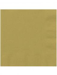 20 Serviettes en papier Or 33 x 33 cm