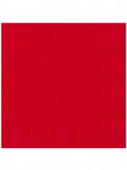 20 Serviettes en papier Rouge 33 x 33 cm