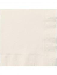 20 Serviettes en papier ivoires 33 x 33 cm