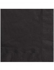 50 Serviettes en papier noires 33 x 33 cm