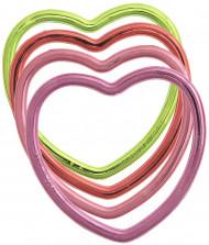6 bracelets métalique cœur
