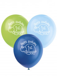 8 Ballons en latex First birthday 30 cm