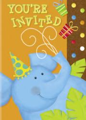 8 Cartes invitations Jungle Party