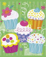 8 Sacs de fêtes Cupcake Party