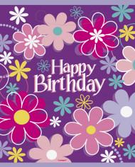 8 Sacs de fêtes Happy Birthday