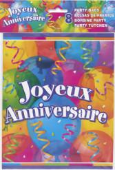 8 Sacs de fêtesJoyeux anniversaire