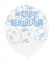 Ballon de baudruche bleu  Happy Birthday