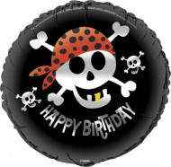 Ballon aluminium Happy Birthday Pirate 30cm