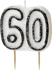 Bougie Age 60 ans gris