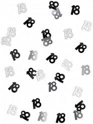 Confettis gris/noir Age 18 ans