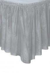 Jupe de table en plastique grise