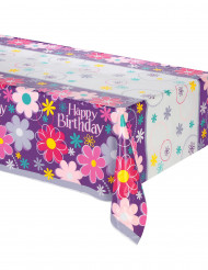 Nappe en plastique Happy Birthday 137 x 213 cm