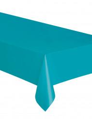 Nappe rectangulaire en plastique bleu caraïbe 137 x 274 cm