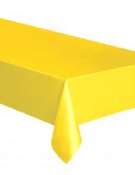 Nappe rectangulaire en plastique jaune 137 x 274 cm