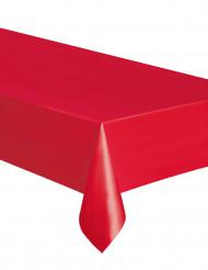 Nappe rectangulaire en plastique rouge 137 x 274 cm