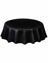 Nappe ronde en plastique noir 213 cm