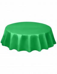 Nappe ronde en plastique vert émeraude 213 cm