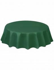 Nappe ronde en plastique vert foncé 213 cm