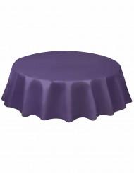 Nappe ronde en plastique violet foncé 213 cm