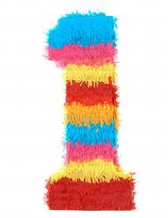 Pinata du chiffre 1 multicolore