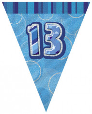 Guirlande Fanions bleue Age 13 ans