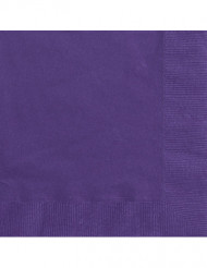 50 Serviettes violettes 33 x 33 cm