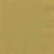 50 serviette en papier or 33 x 33 cm