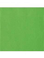 50 Serviettes en papier vert citron 33 x 33 cm