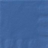 50 Serviettes en papier bleues 33 x 33 cm