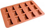 Moule à chocolats marron forme rectangle