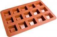 Moule à chocolats marron forme carré