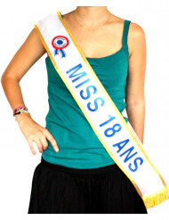 Echarpe bleue Miss 18 ans