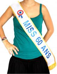 Echarpe bleu Miss 60 ans