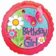 Ballon aluminium rond Garden girl
