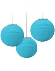 3 lanternes bleues