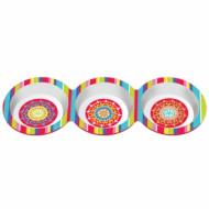 3 bols en plastique Mexico 37 cm