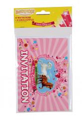 6 Cartons d'invitations avec enveloppes mon cheval