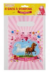6 sacs à bonbons Mon Cheval