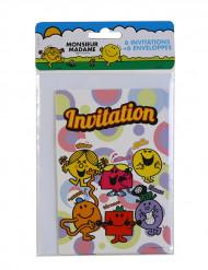 6 Cartons d'invitation avec enveloppes Monsieur Madame™