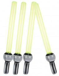 4 Sabres laser en plastique gonflables 72 cm