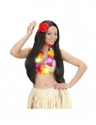 Collier multicolores lumineux Hawaï