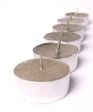 9 Bougies chauffe-plats dorées