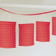 Guirlande lanterne rouge