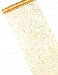 Chemin de table cristaux or 5 m