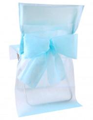 10 Housses de chaise Premium bleu ciel 50 x 95 cm