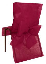 10 Housses de chaise Premium bordeaux 50 x 95 cm