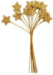 Bouquet 12 étoiles or